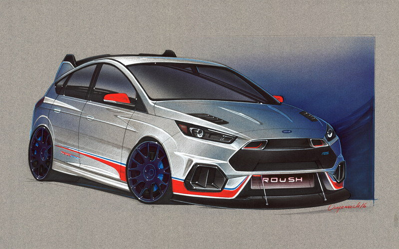 2016 Ford Focus RS by Roush Performance Exterior Computer Renderings and Photoshop - image 693206