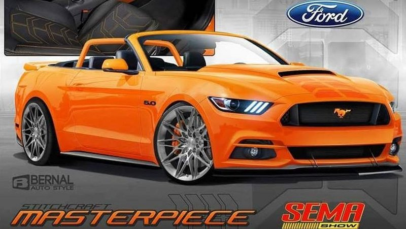 2017 Ford Mustang Pearl Candy Orange Concept