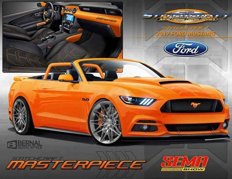 2017 Ford Mustang Pearl Candy Orange Concept Computer Renderings and Photoshop - image 692633
