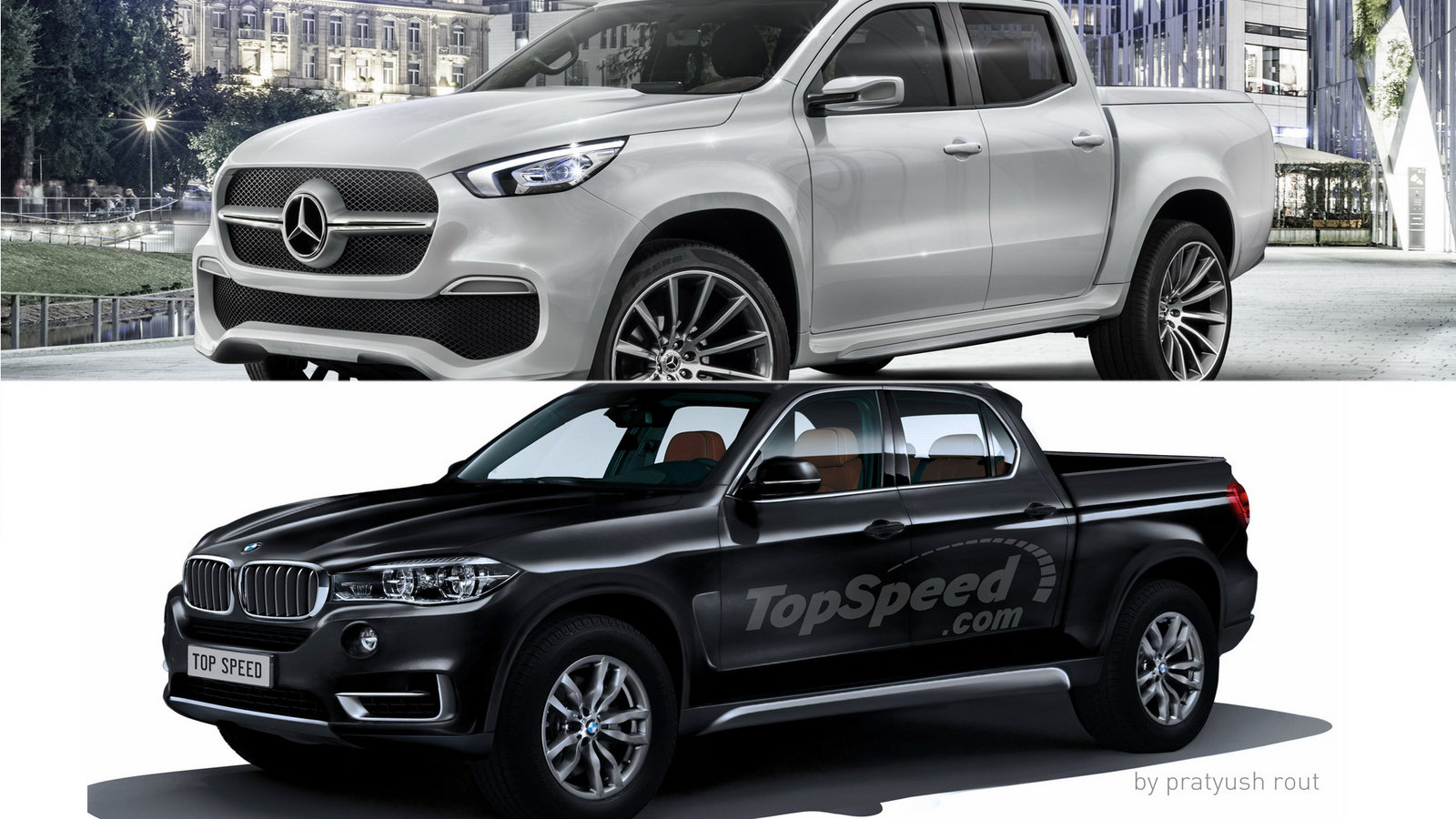 Mercedes x class vs bmw pickup picture 693276 truck for Mercedes benz vs bmw