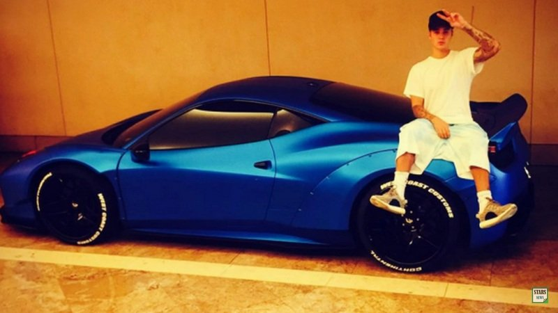 It Took Justin Bieber Three Weeks to Find his Misplaced Blue Ferrari 458
