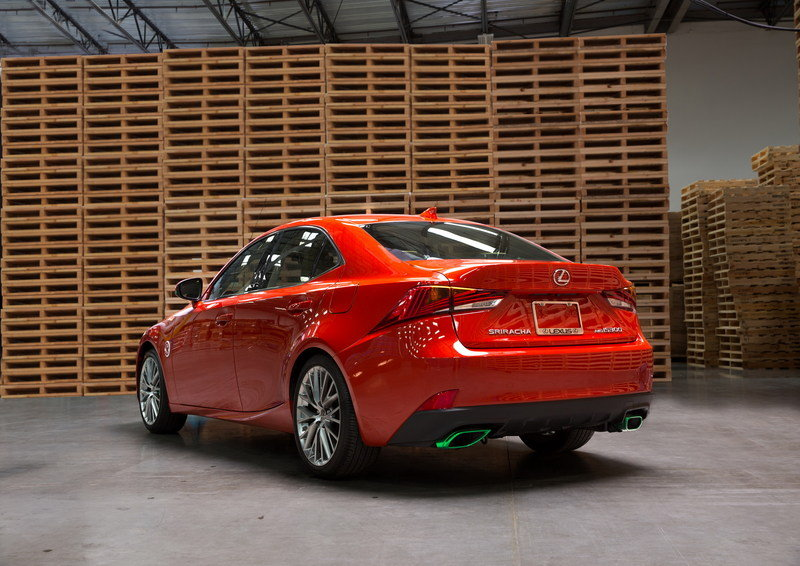 Lexus Gets Spicy With The Sriracha IS In Los Angeles High Resolution Exterior - image 695725