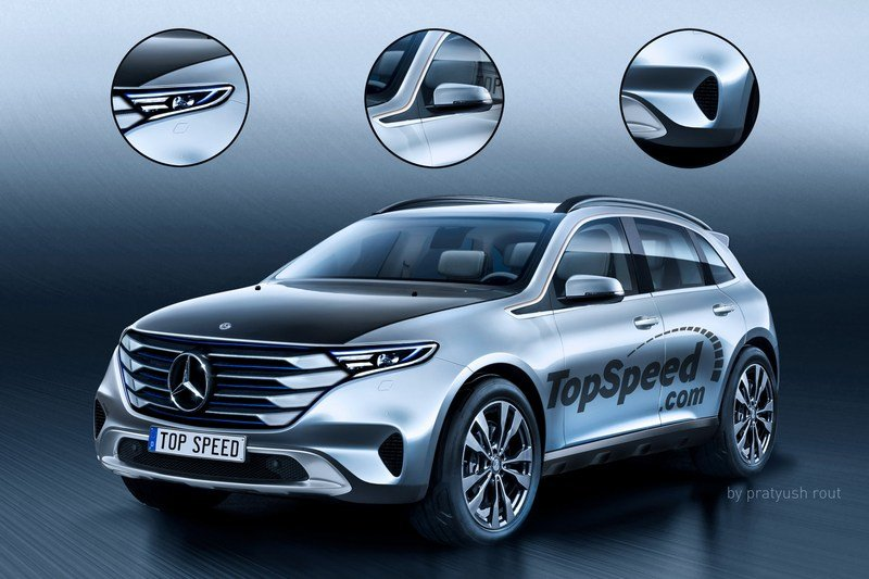 2020 Mercedes-Benz All-Electric SUV Exterior Exclusive Renderings Computer Renderings and Photoshop - image 697080