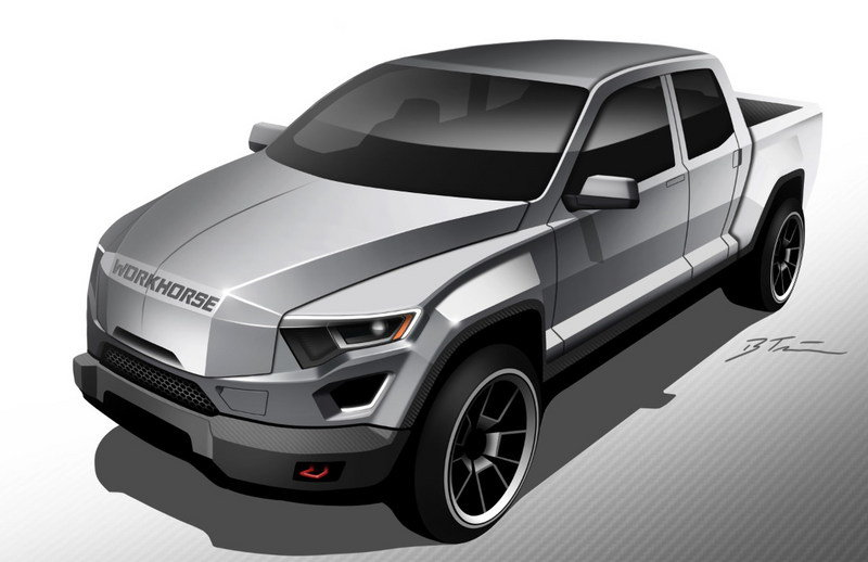 Workhorse Previews First Range-Extended Electric Pickup Exterior Computer Renderings and Photoshop - image 694869