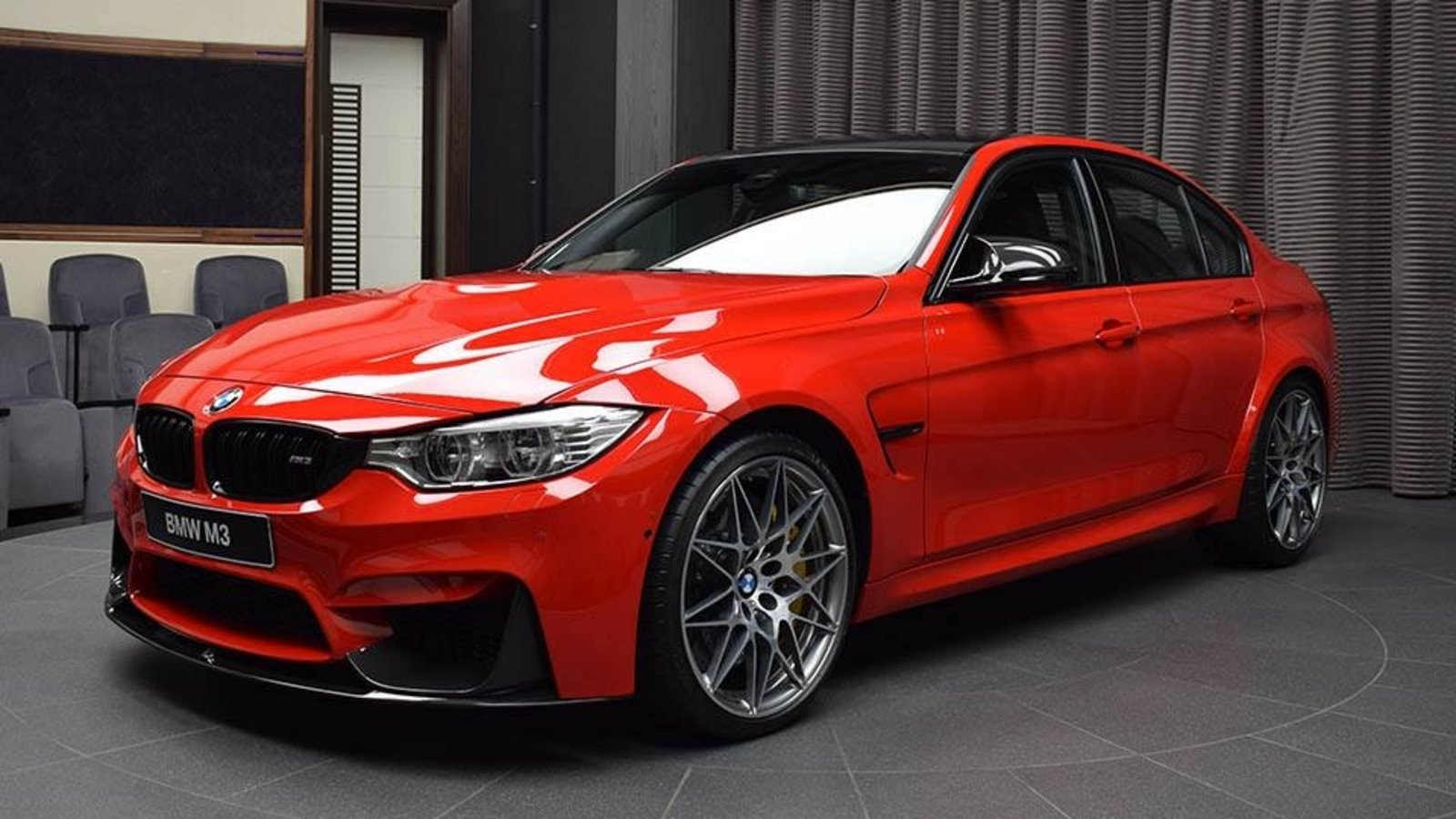 Bmw M3 Looks Amazing Wearing Ferrari Red Paint News Top