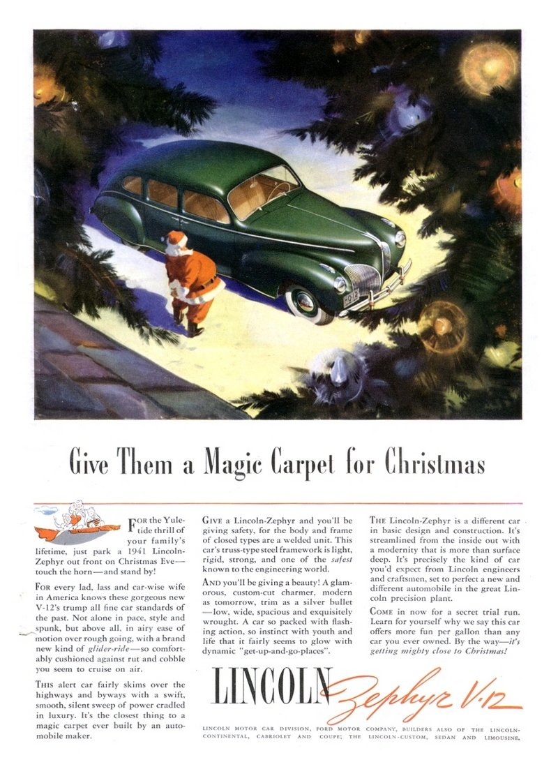 Celebrate Christmas With These Cool Vintage Car Ads Top