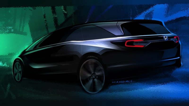 Honda Teases 2018 Odyssey Ahead of Detroit Auto Show Debut Exterior Computer Renderings and Photoshop - image 698940