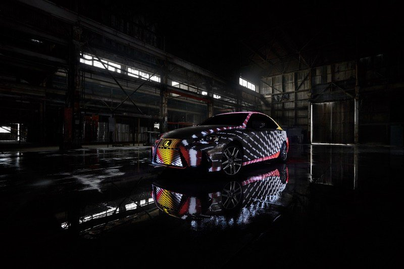 Lexus unveils LIT IS; aka an IS wrapped in almost 42k LEDs
