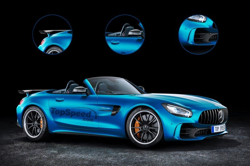 2019 Mercedes-AMG GT R Roadster Exterior Exclusive Renderings Computer Renderings and Photoshop - image 697448