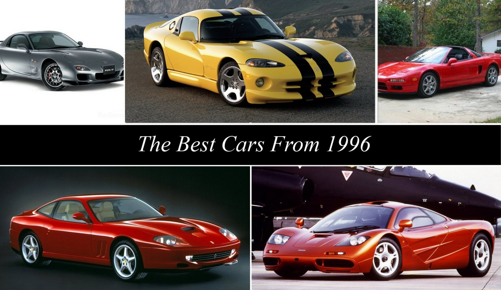 The Best Cars From 1996 Guide - Top Speed