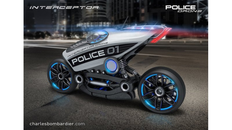 Police Motorcycle Drone On The Drawing Boards