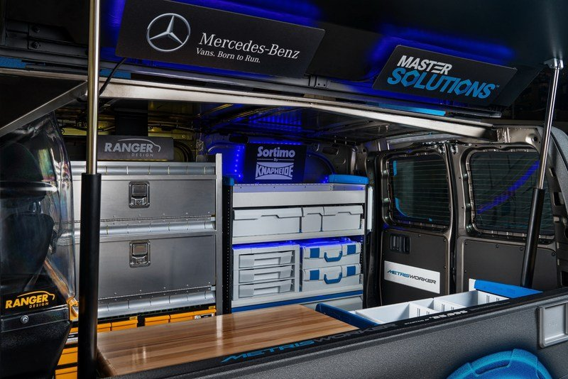 Mercedes-Benz Metris MasterSolutions Toolbox Concept Showvan Unveiled In Chicago