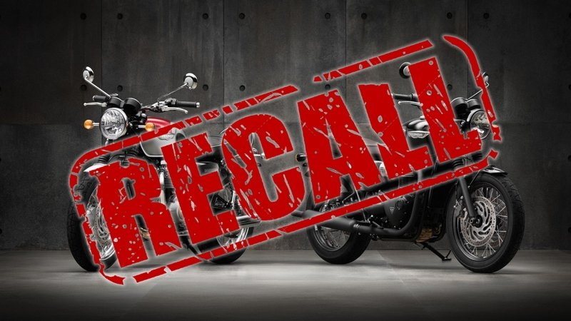 Triumph Motorcycles Issues Recall On 2016-17 Bonneville T120 / T120 Black