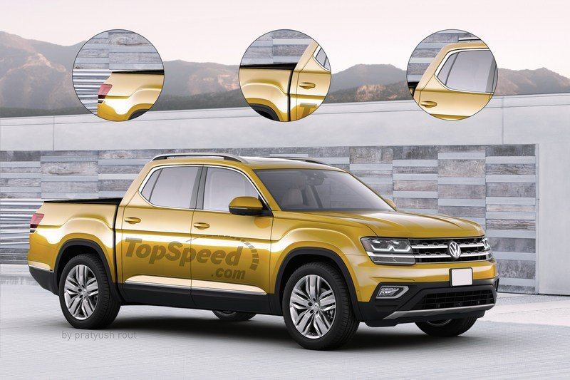 2019 Volkswagen Atlas Pickup Exterior Exclusive Renderings Computer Renderings and Photoshop - image 705495