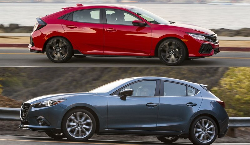 Buyer's Guide: Mazda 3 vs Honda Civic Hatchback