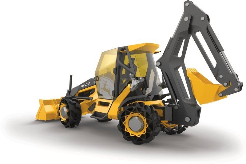BMW and John Deere Tease Hybrid Backhoe Concept Exterior Computer Renderings and Photoshop - image 710049