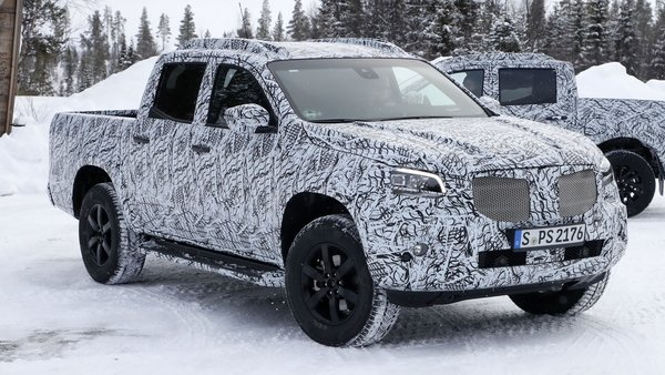 mercedes x-class prototype spotted and it looks awesome - DOC710282