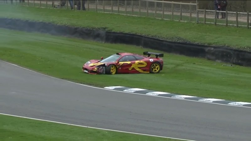 Pink Floyd's Drummer Crashes His McLaren F1 GTR