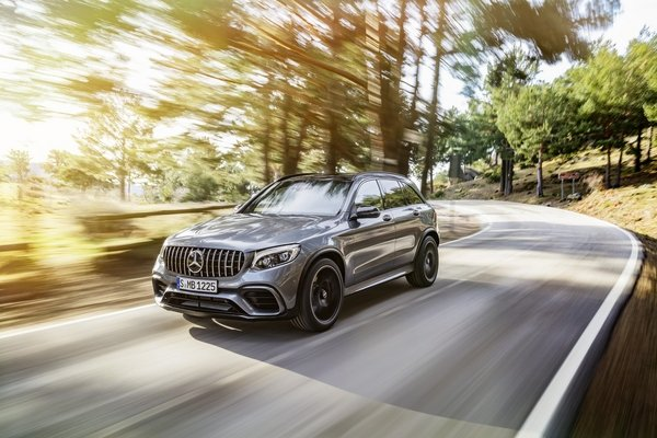 2018 mercedes-amg glc 63 and glc 63 coupe arrive with healthy turbo v-8 power - DOC712010