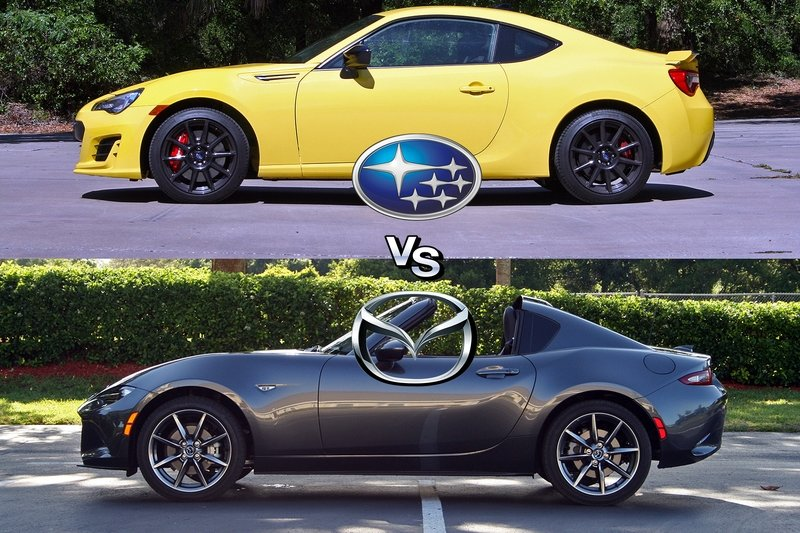 Attack of the Coupes: Subaru BRZ vs Mazda MX-5 Miata RF