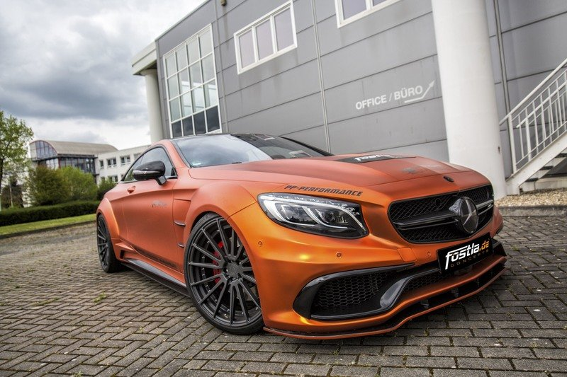 Don't Get Blinded By Fostla's Orange Chrome Wrap On The Mercedes-AMG S 63 High Resolution Exterior - image 715437