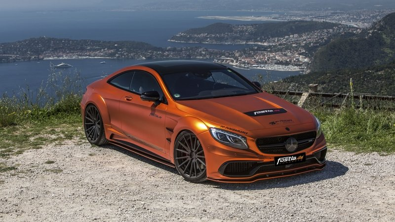 Don't Get Blinded By Fostla's Orange Chrome Wrap On The Mercedes-AMG S 63