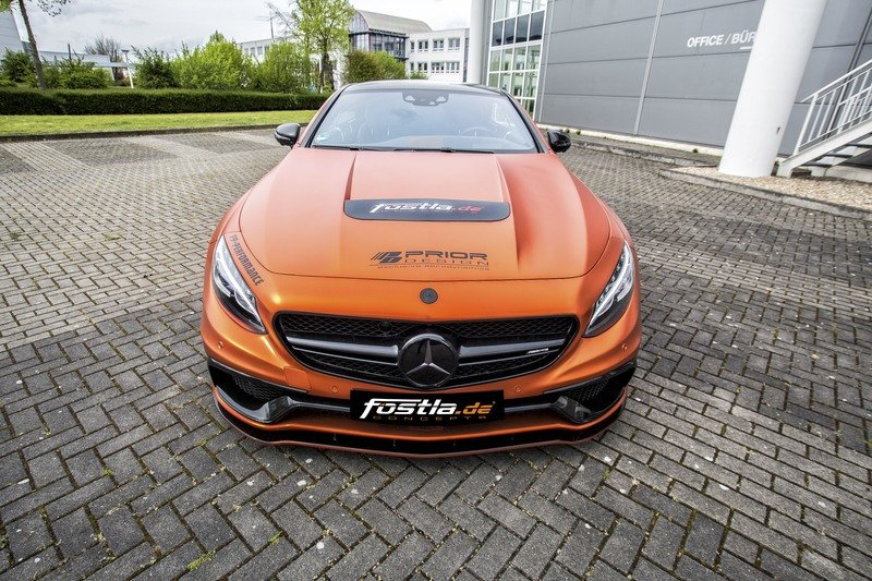 Don't Get Blinded By Fostla's Orange Chrome Wrap On The Mercedes-AMG S 63 High Resolution Exterior - image 715430