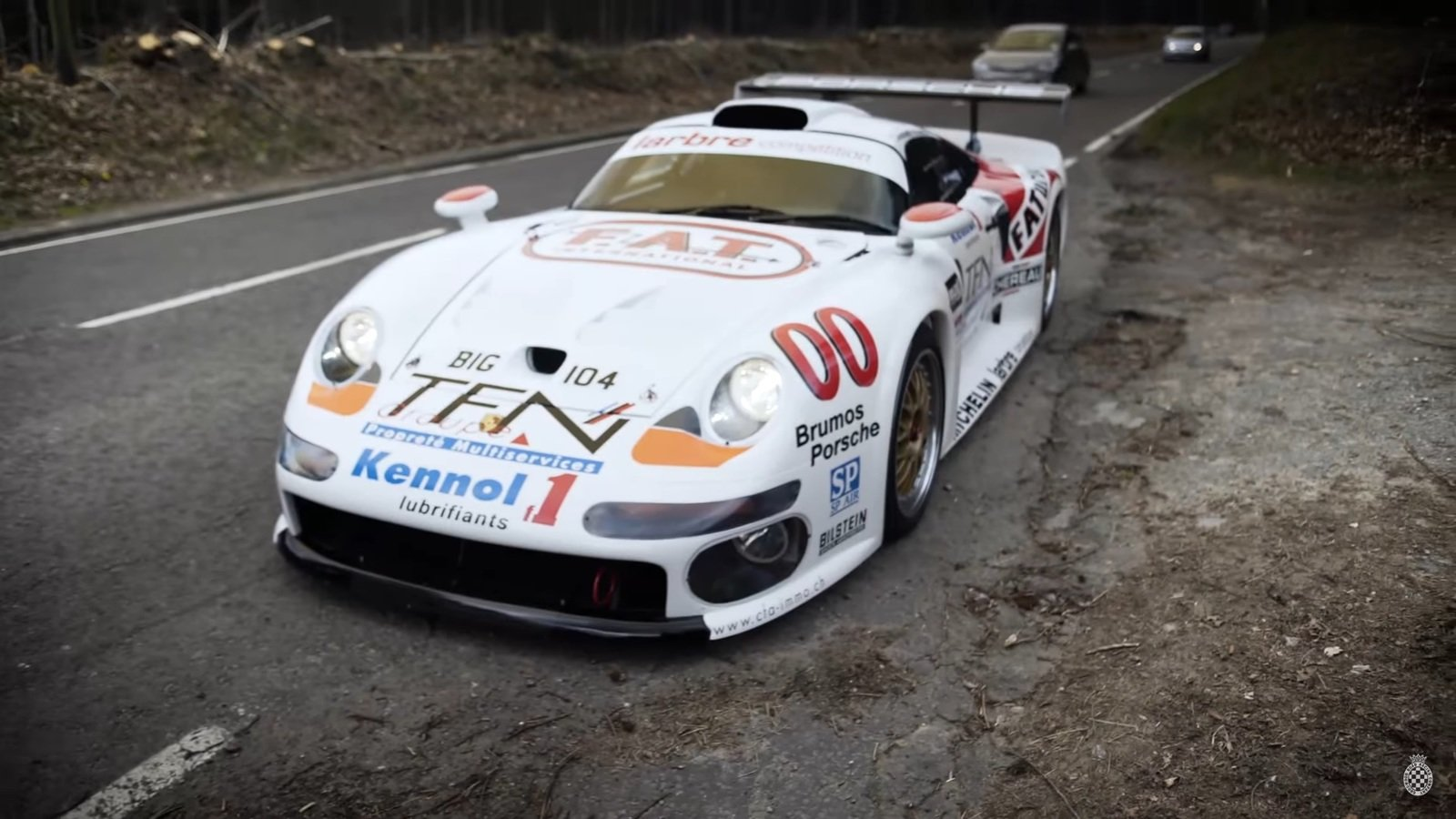 heading to goodwood in a porsche 911 gt1 video news gallery top speed. Black Bedroom Furniture Sets. Home Design Ideas
