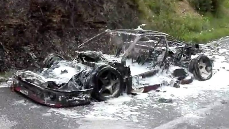 Say A Prayer For The Charred Remains Of This Ferrari F40 Prototype