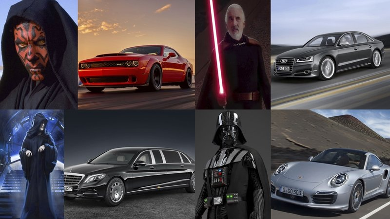 The Sith Lords And The Cars We See Them In