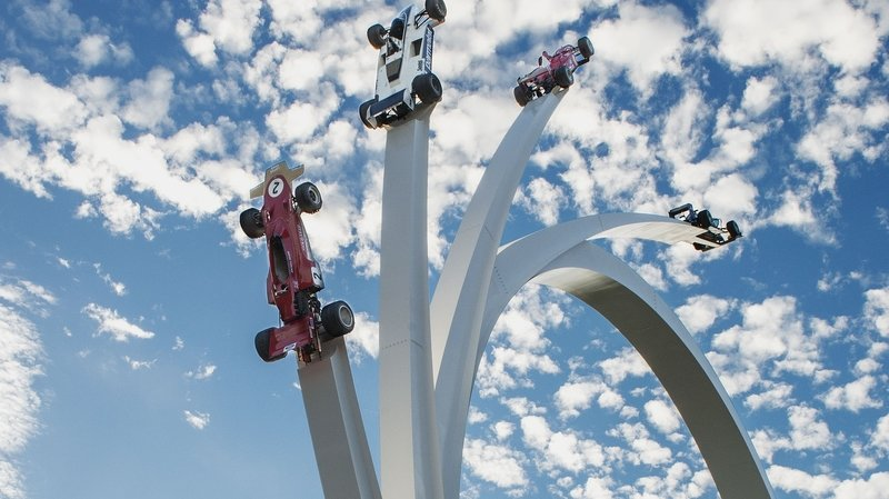 A Historical Look At The Goodwood Festival Of Speed's Center Feature Sculptures