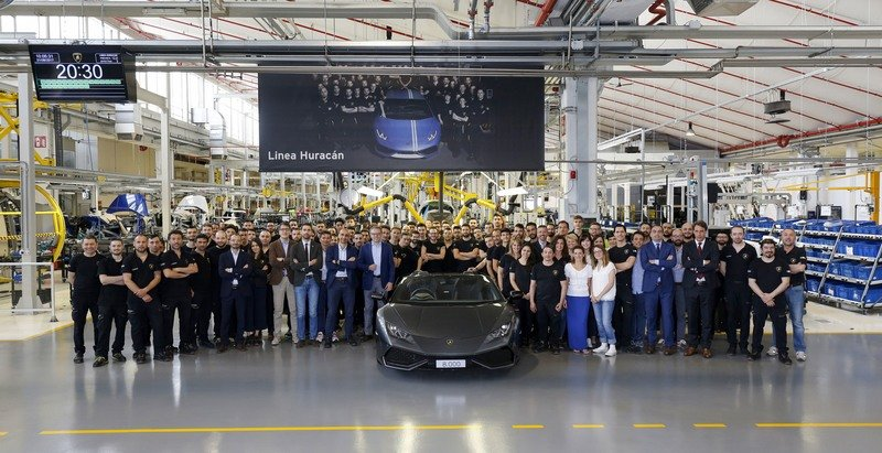 Lamborghini Celebrates The Production Of The 8,000th Huracán