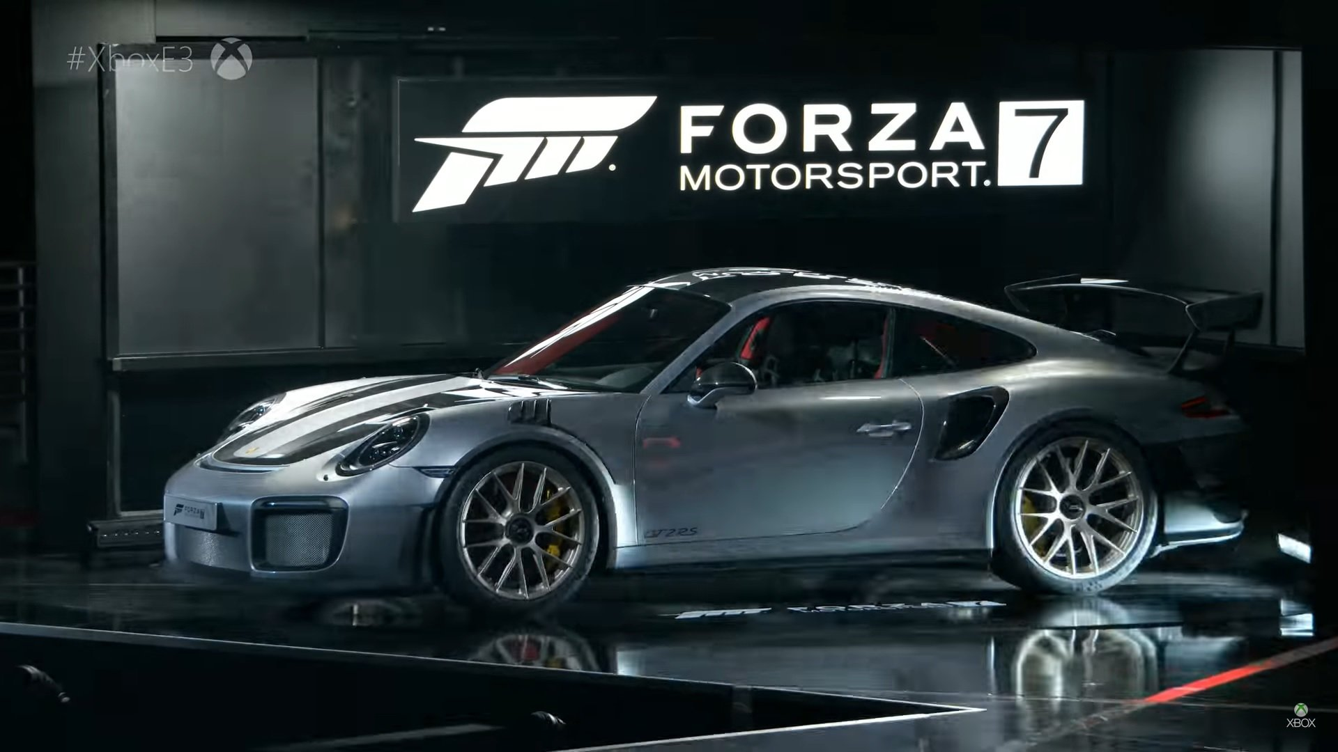 porsche 911 gt2 rs debuts at xbox e3 top speed howldb. Black Bedroom Furniture Sets. Home Design Ideas