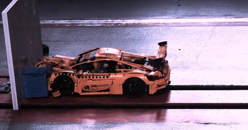 You Won't Be Able To Take Your Eyes Away From The Sight Of A Lego Porsche 911 GT3 RS Crashing
