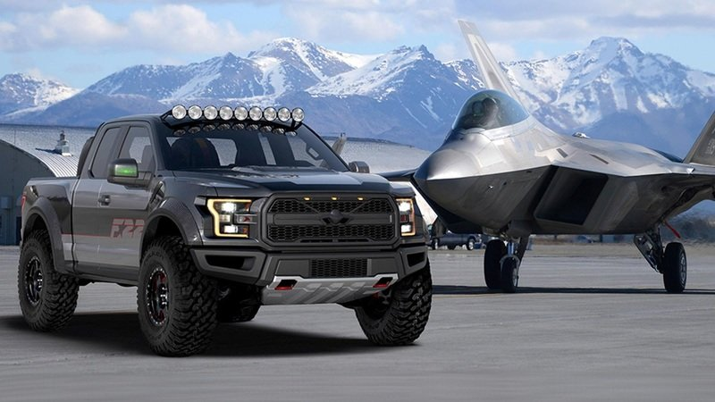 Ford Builds F-22 Raptor-Themed F-150 Raptor for Charity Auction