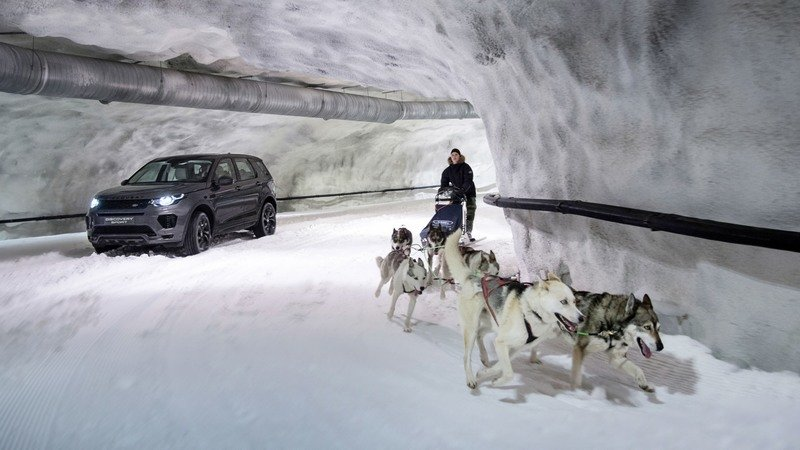 Land Rover Puts the Discovery Sport Against a Dog Sled in New