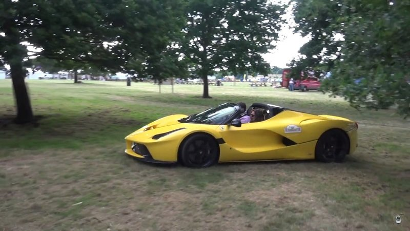 Watch a $7 million dollar LaFerrari used as lawnmover