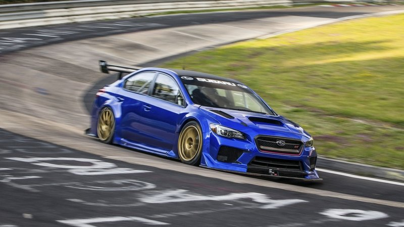 Subaru Sets Nurburgring Record for Sedans with Beefed-up WRX STi