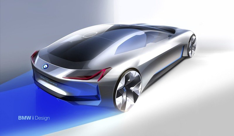 BMW i Vision Dynamics Previews Tesla Model S Fighter