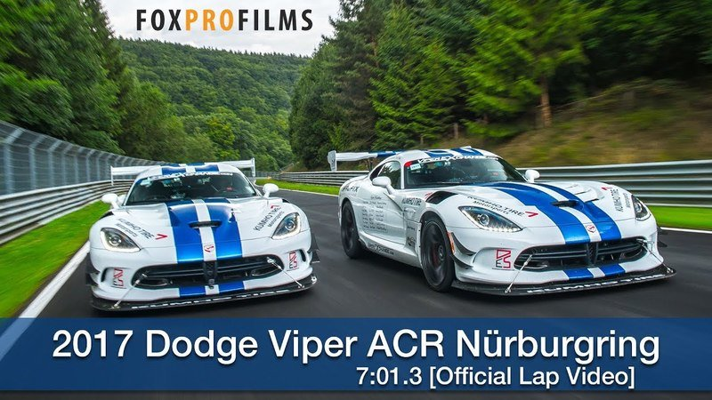 Dodge Viper ACR Almost Breaks Seven Minutes At The Nürburgring: Video