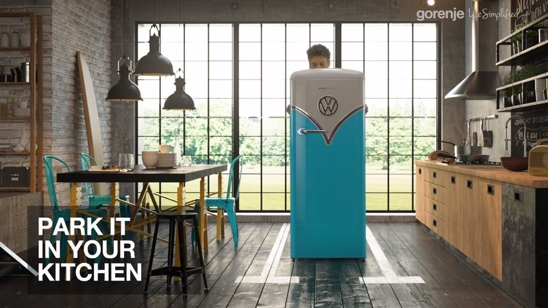 Keep Your Beer Chilled with the Volkswagen Microbus-Inspired Fridge