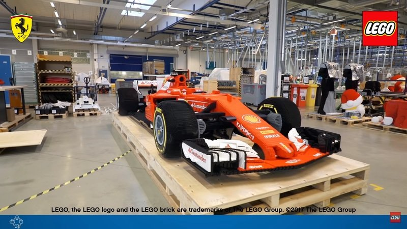 Lego's Genius Knows No Bounds With Life-Sized Ferrari SF70H