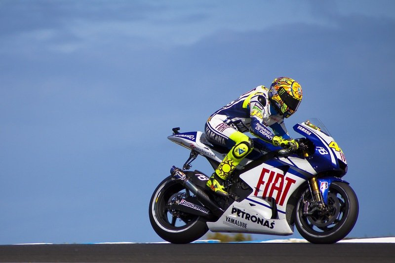 One of the reasons why Valentino Rossi is considered the greatest.
