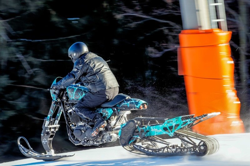 Meet the Harley Davidson Roadster Snow Drag.