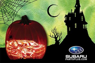 Add Some Boost To Your Pumpkin With This Subaru WRX STI Carving Pattern