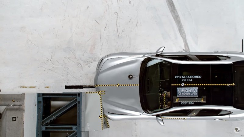 Alfa Romeo Giulia Ranks Well in IIHS Crash Tests: Video