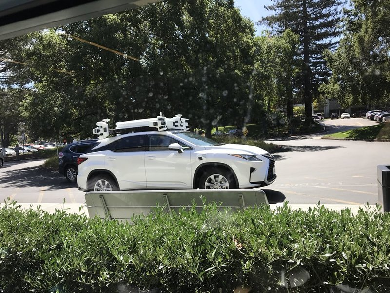 Apple's Self-Driving Lexus Spotted On Public Roads