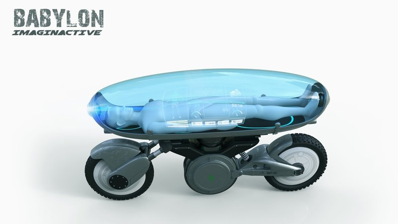 Imaginative Teases With Concept Hybrid Medic-Drone-Bike