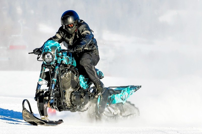 Meet the Harley Davidson Roadster Snow Drag. Exterior High Resolution Wallpaper quality - image 736604
