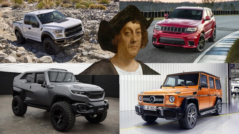 Columbus Day Special – 5 SUVs And Trucks To Help You Destroy A Civilization